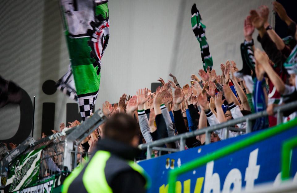 Hannover 96 Pyrotechnik Ultras Fürth Gästeblock