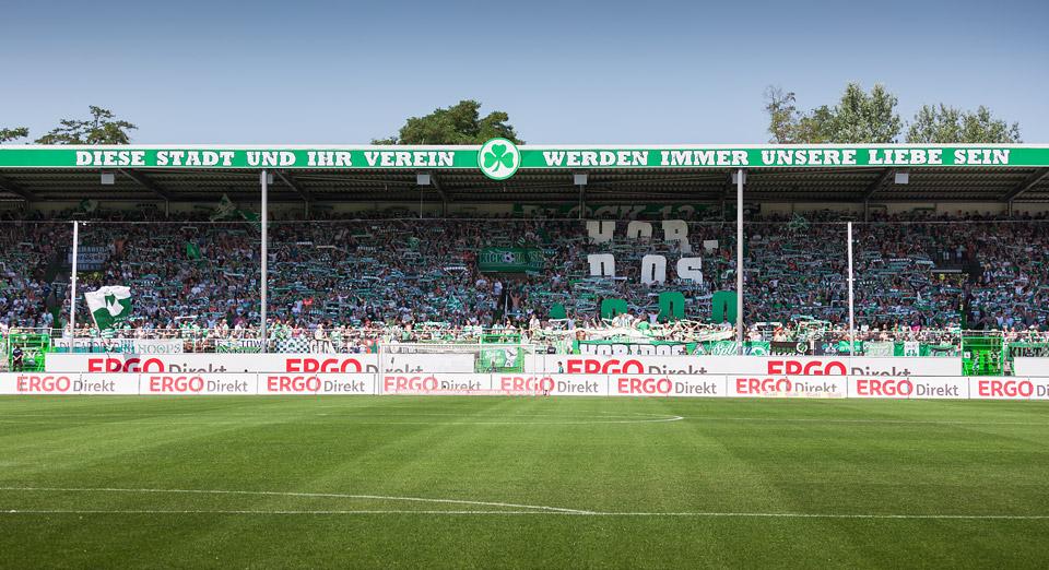 Fürth gegen Bielefeld, Horidos 1000, Choreo