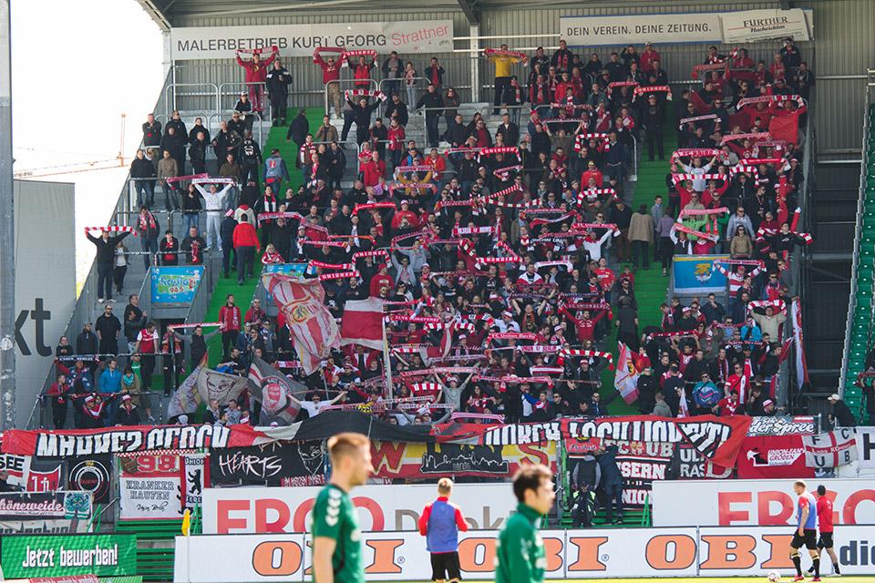 Fürth – Union Berlin Gästeblock