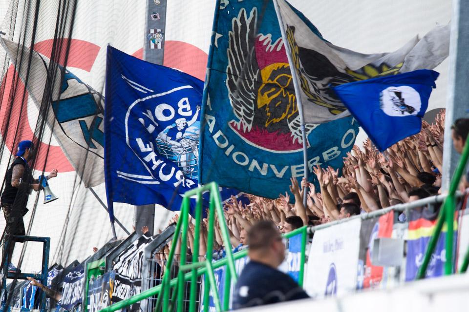 SpVgg Fürth – Karlsruher SC Gästeblock