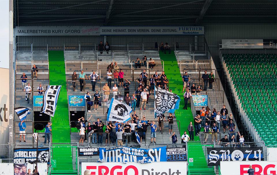 SpVgg Fürth – FSV Frankfurt Gästeblock