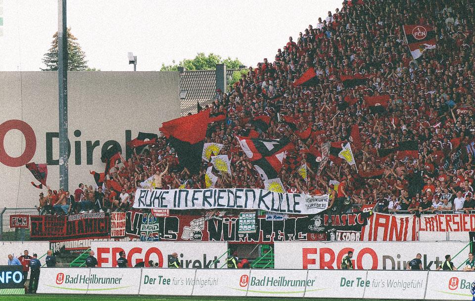 Fürth – Nürnberg Gästeblock