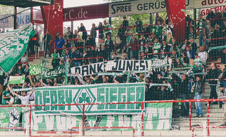 Union Berlin – SpVgg Fürth Gästeblock