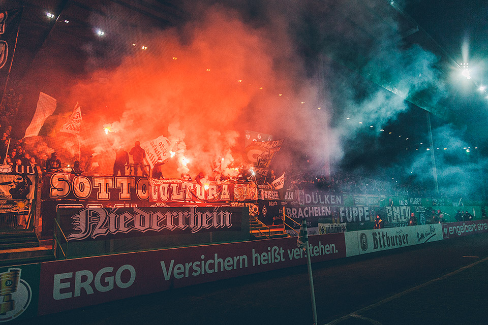 SpVgg Fürth – Gladbach Pyro
